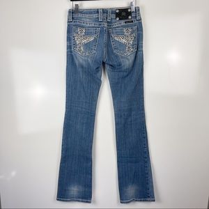 Miss Me Bling Cross Pocket Bootcut Jeans
